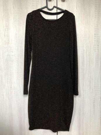 Miedziana sukienka :) NOWA z metka