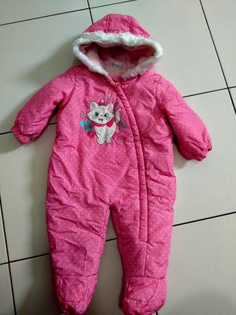 Комбінезон в горошок рожевий для дівчинки