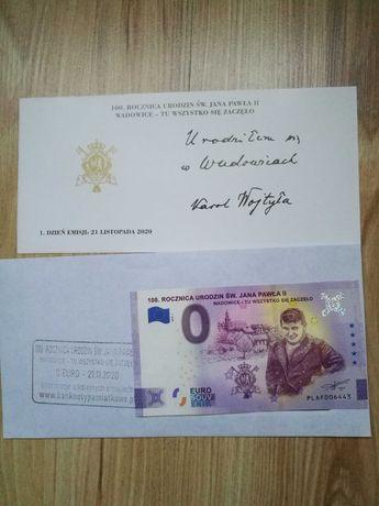 Banknot 0 Euro Jan Paweł II Wadowice