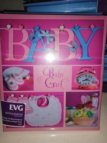 Анкетный фотоальбом, альбом для новорождённых с записями
