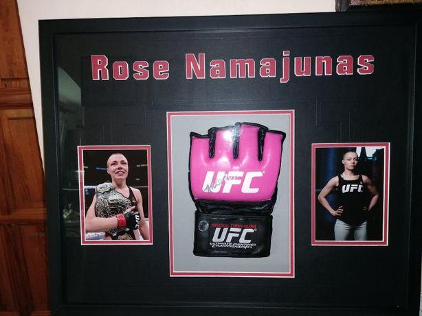 Rękawica z autografem w oprawie ! Rose Namajunas