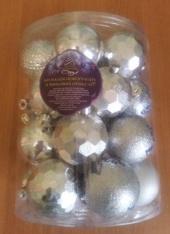 Елочные шарики новогодние 6см 26 шт. в колбе