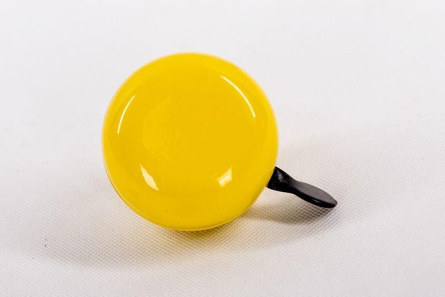 Duży dzwonek rowerowy, żółty