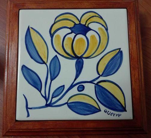 Conj 6 quadros azulejos pintados à mão séc. XVII assinanatura artista