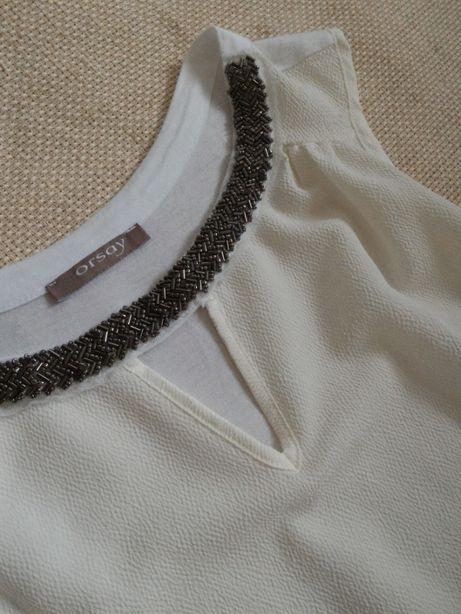 Топ блуза майка нарядная Orsay S под джинсы лосины туфли сапоги супер