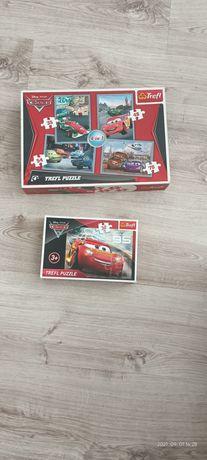 Puzzle auta dwa zestawy puzzli