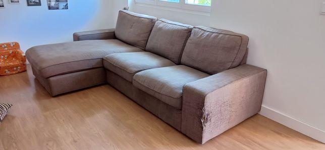 Sofá com chaise longue IKEA