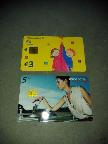 Cartão carregamento de cabine telefónica