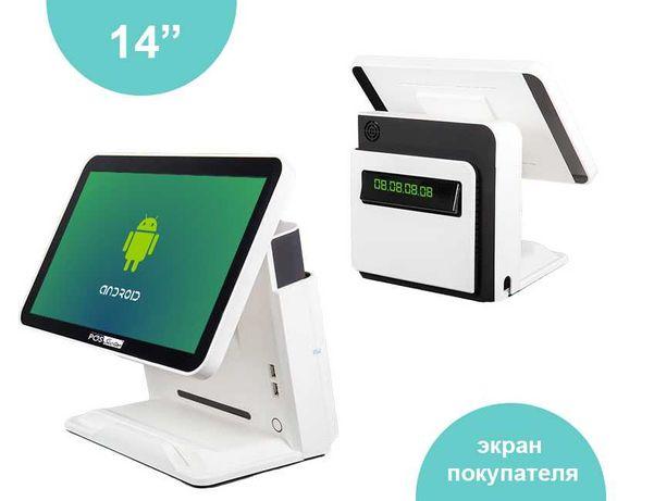 """Сенсорный 14"""" POS-терминал на ОС Android с Bluetooth и Wi-Fi для кафе"""