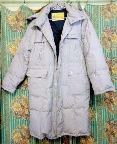 мужское пуховое пальто - натуральный пух
