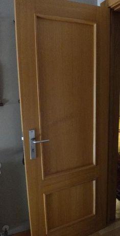 Porta de madeira, carvalho claro