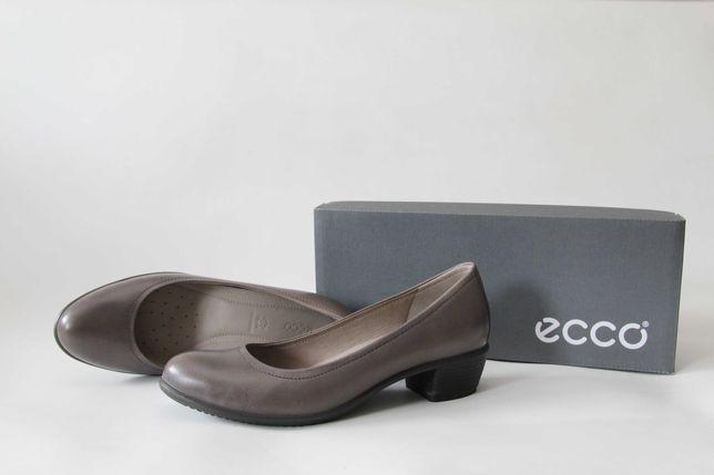 ECCO - skórzane czółenka r. 37 (24 cm)