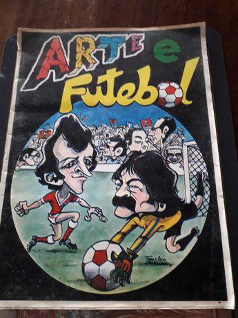 Caderneta antiga de Cromos de Jogadores de Futebol