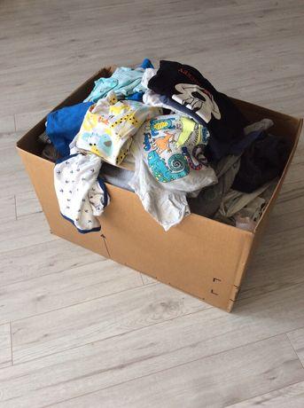 Paka ubrań pajace koszulki spodnie skarpetki kombinezon 56,62,68,74