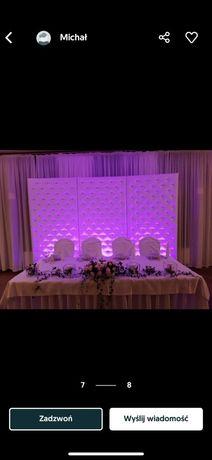 Scianka pikowana z krysztalkami swarovskiego wesele tlo para mloda slu