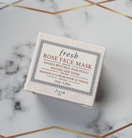 Fresk rose face mask żelowa maska nawadniająca z różą 15ml