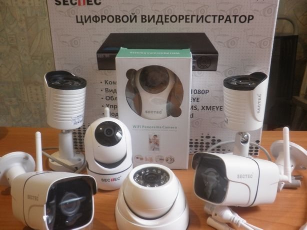 WiFi КАМЕРЫ Внутр Уличные Комплект Системы Видеонаблюдения АССОРТИМЕНТ