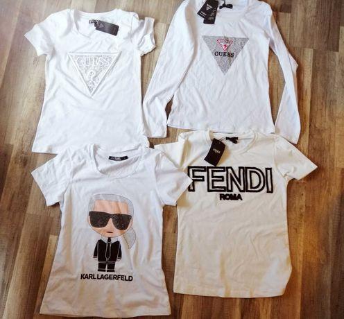T shirt biel guess Karl lagerfeld Fendi