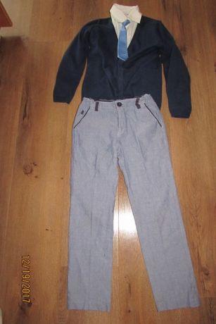 Zestaw spodnie koszula sweterek Reserved cool club 122/128
