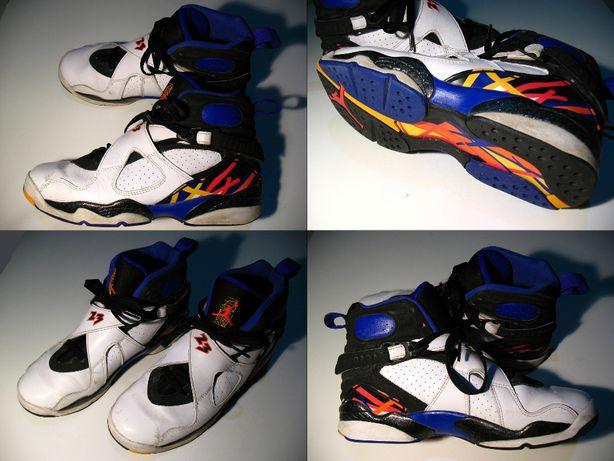 Air Jordan 8 Three Peat (Nike). Rozmiar 38,5. Wkładka 24 cm.
