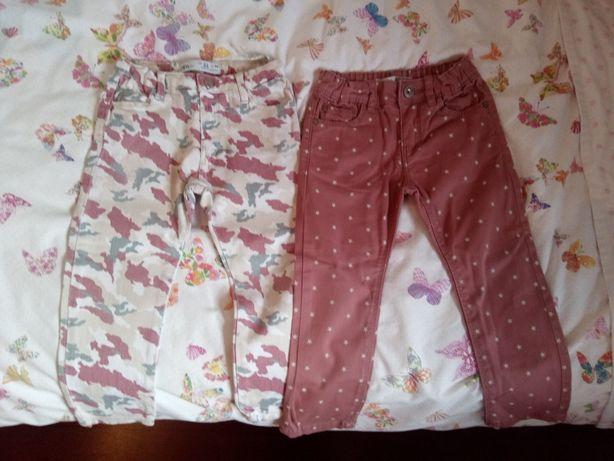 Conjunto de 2 Calças menina 2 / 3 anos Zara e lefties