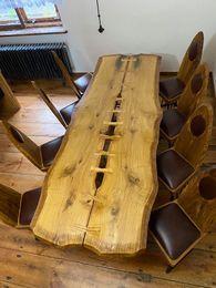 Stół dębowy+ 8 krzeseł