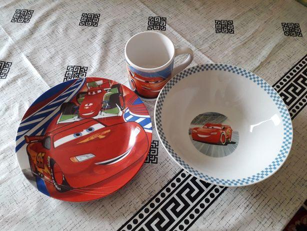 Набор посуды детский чашка тарелка для мальчика
