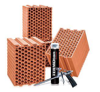 Pustak Ceramiczny cegła bloczek beton komórkowy  PW 25 kl 15 TERMOton