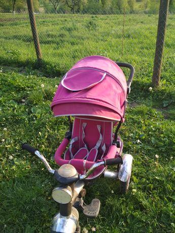 Велосипед с родительской ручкой и откидной спинкой