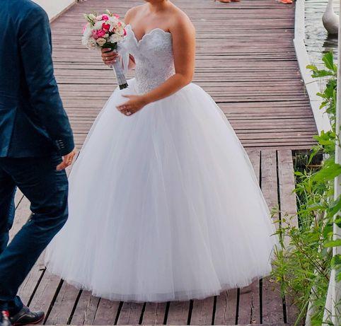 OKAZJA! Zjawiskowa suknia ślubna (36-40)+druga suknia i dodatki GRATIS