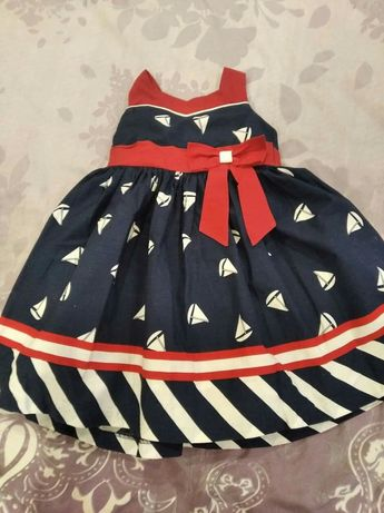 Платье для маленькой морячки.