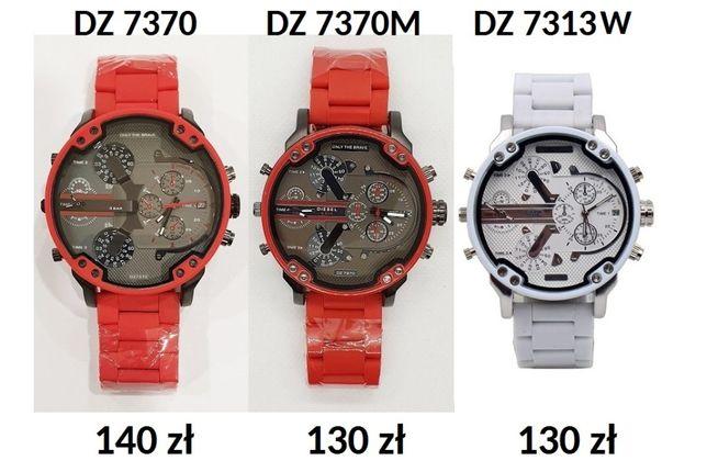 Zegarek DIESEL czerwony i biały silicon