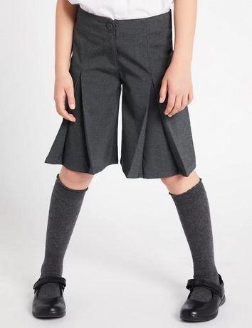 юбка-шорты в школу для девочки фирмы marksandspencer
