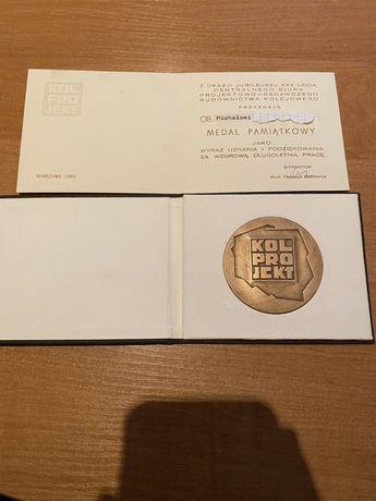 Medal 30 lecie Biura PBB Kolejowego 1980. Mennica Państwowa