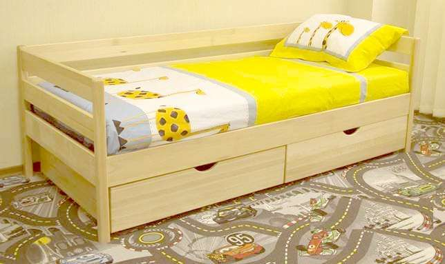 """Кровать с бортами """"Нота"""" от производителя с ольхи. Проходит Акция"""