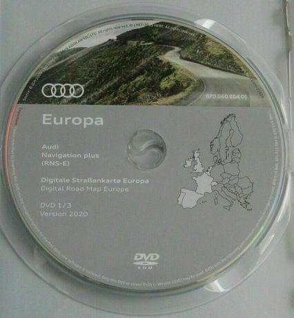 DVD Mapa navegação Audi RNS-E navigation plus Europe 2020