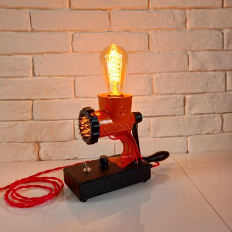 Настольная лампа ночник лофт стимпанк Orange - Black