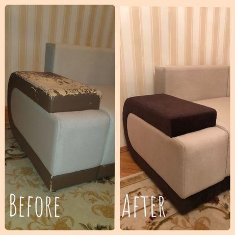 Перетяжка м'яких меблів, ремонт, реставрація