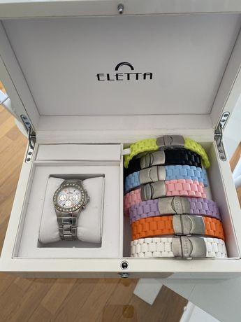 Relógio Eletta c/ caixa e 8 braceletes