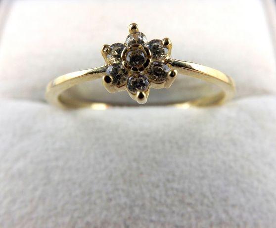 Delikatny złoty pierścionek 1,76G 585