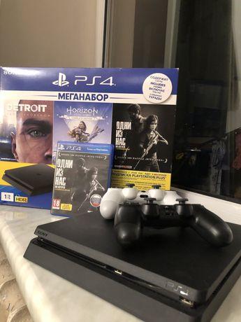 Sony PlayStation 4 slim 1 tb Ps4 play station 4 игровая приставка