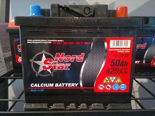 Akumulator NORD STAR 50Ah 24 m-ce gwarancji Krapkowice - image 1