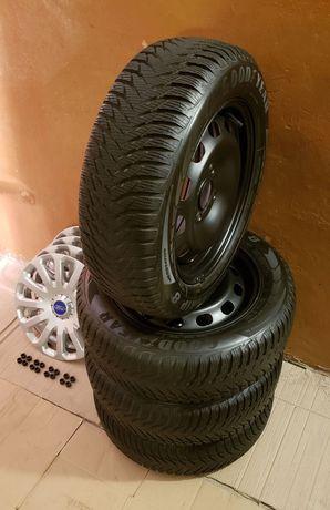 Колеса (Шини, Диски, Ковпаки) GoodYear для Ford Fiesta і тп (зима)