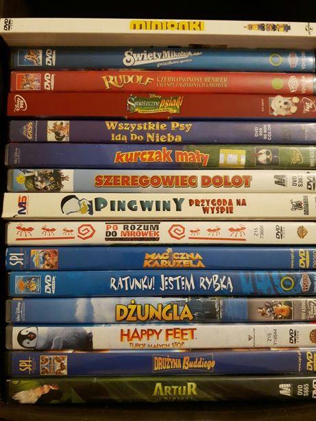 Płyty DVD dla dzieci. Wybór. Cena za szt 10 zł