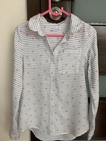 Biała bluzka dla dziewczynki Reserved rozm. 134