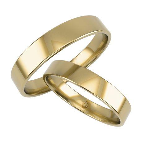 Rabat 20% Obrączki Para Komplet klasyczne proste 4 mm złote 333 585
