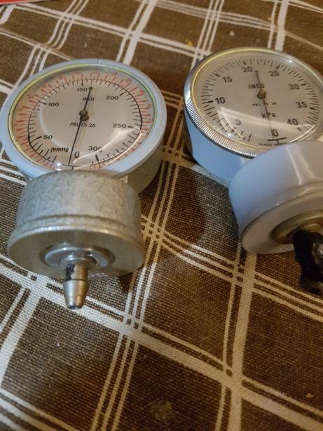 Metalowy manometr do klasycznych ciśnieniomierzy zegarowych