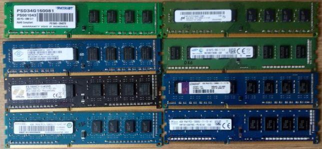 Продам планки памяти 1Gb, 2Gb, 4Gb DDR2 и DDR3 для компьютера