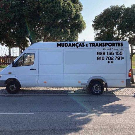 Mudanças é transportes