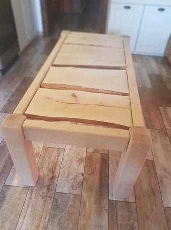 Oryginalny stół drewniany ręcznie wykonany drewno lite